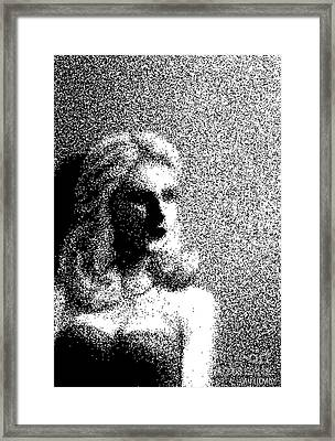 The Actress  Framed Print by Dan Lockaby