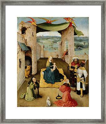 The Adoration Of The Magi Framed Print by Hieronymus Bosch