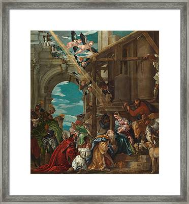 The Adoration Of The Magi Framed Print by Paolo Veronese