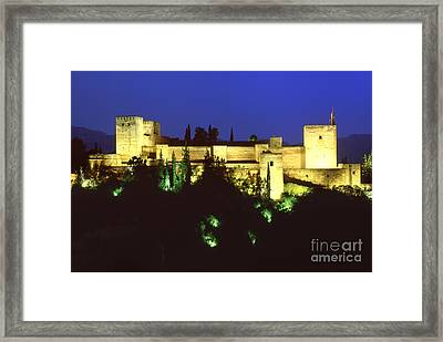 The Alcazaba The Alhambra Framed Print by Guido Montanes Castillo