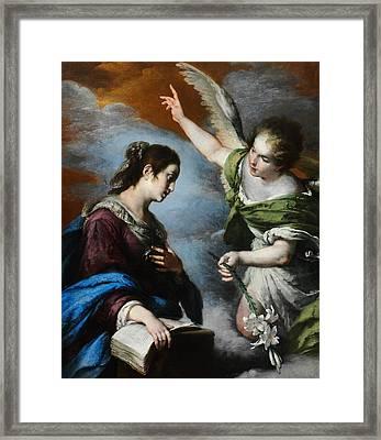 The Annunciation Framed Print by Bernardo Strozzi