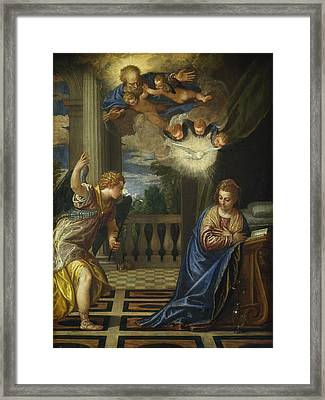 The Annunciation Framed Print by Paolo Veronese