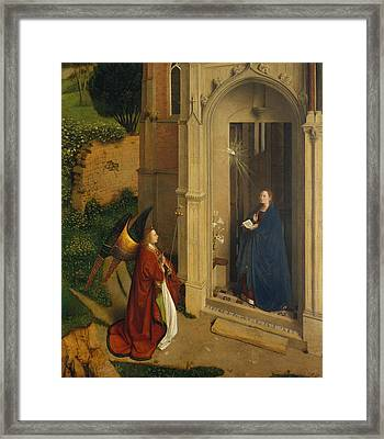 The Annunciation Framed Print by Petrus Christus