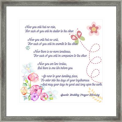 The Apache Wedding Blessing Framed Print by Celestial Images