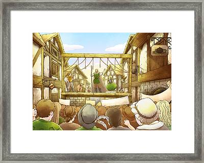 The Army Of God Captures London Framed Print
