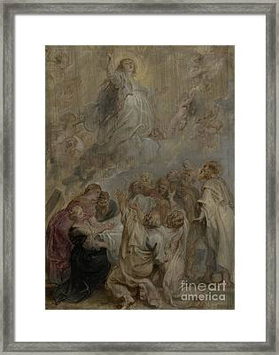 The Assumption Of The Virgin Framed Print by Peter Paul Rubens