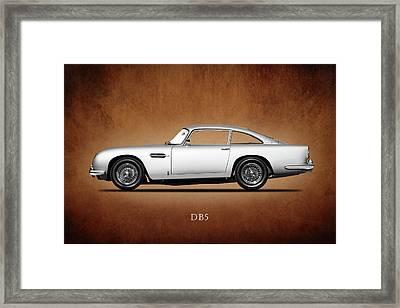 The Aston Martin Db5 Framed Print by Mark Rogan