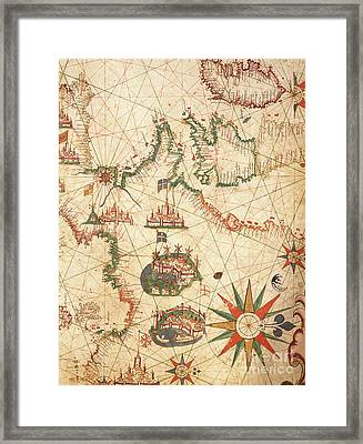 The Atlantic Coasts Of Europe And The Western Mediterranean, From A Nautical Atlas, 1651  Framed Print by Pietro Giovanni Prunes