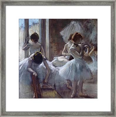 The Ballet Class Framed Print by Edgar Degas