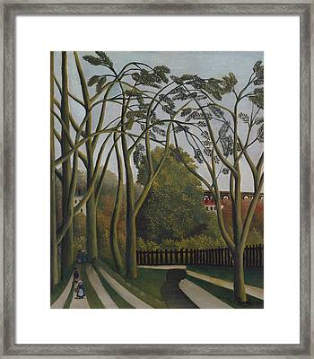 The Banks Of The Bievre Near Bicetre Framed Print by Henri Rousseau