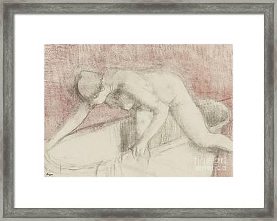 The Bath Framed Print