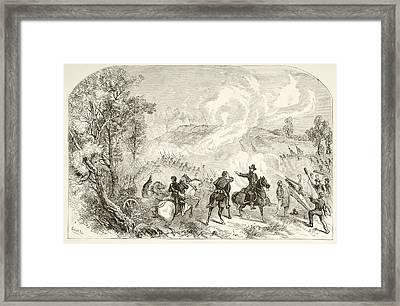The Battle Of Gettysburg, July 1 To 3 Framed Print by Vintage Design Pics