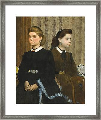 The Bellelli Sisters Framed Print by Edgar Degas