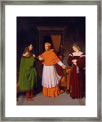The Betrothal Of Raphael And The Niece Of Cardinal Bibbiena Framed Print by Jean-Auguste-Dominique Ingres