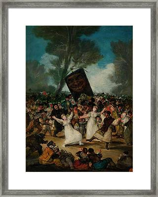 The Burial Of The Sardine Framed Print