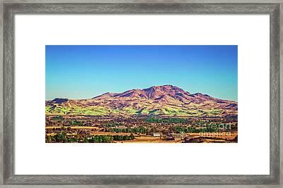 The Butte Framed Print