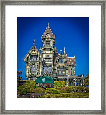 The Carson Mansion Framed Print by Mountain Dreams