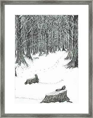 The Castle In The Forest Of Findhorn Framed Print