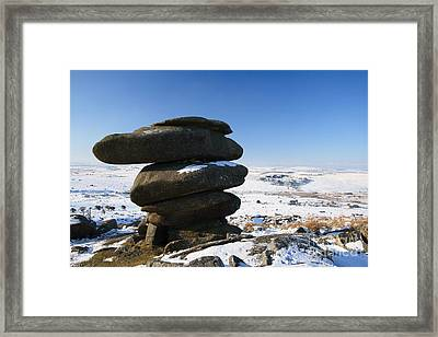 The Cheesewrings Framed Print by Carl Whitfield