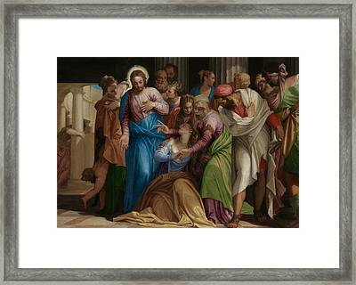 The Conversion Of Mary Magdalene Framed Print