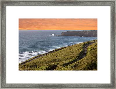 The Cornish Coast Framed Print by Martin Newman