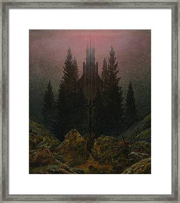 The Cross In The Mountains Framed Print by Caspar David Friedrich