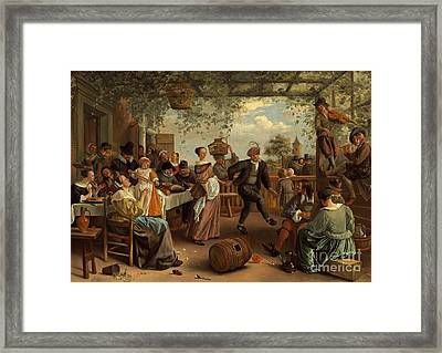 The Dancing Couple Framed Print by Celestial Images