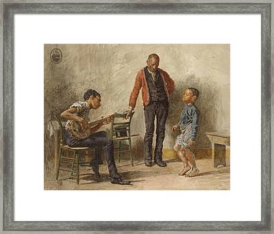 The Dancing Lesson Framed Print