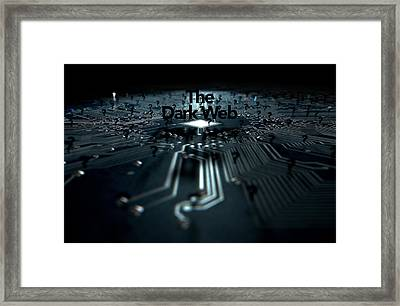 The Dark Web Concept Framed Print by Allan Swart