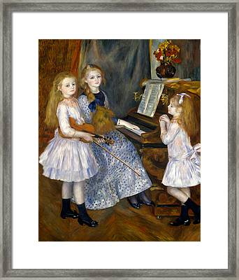 The Daughters Of Catulle Mendes Framed Print
