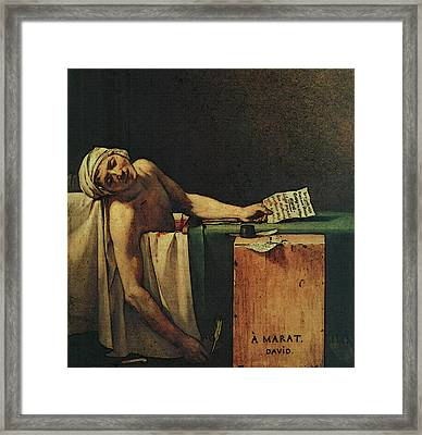 The Death Of Marat  Framed Print by Jacques-Louis David