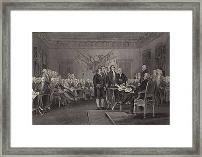 The Declaration Of Independence Framed Print