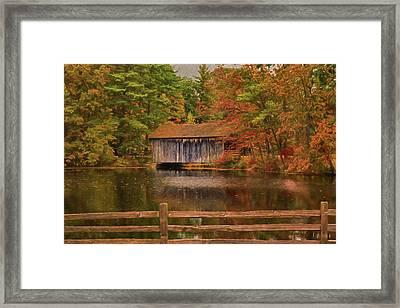 The Dummerston Covered Bridge Framed Print by Jeff Folger