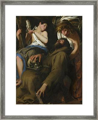 The Ecstasy Of Saint Francis Framed Print by Giovanni Baglione