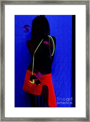 The Effects Of Uv On Reflective Clothing Framed Print