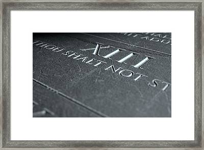 The Eighth Commandment Framed Print by Allan Swart
