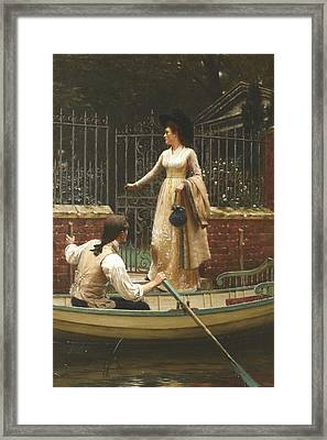 The Elopement Framed Print by Edmund Leighton