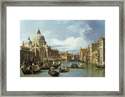 The Entrance To The Grand Canal, Venice Framed Print