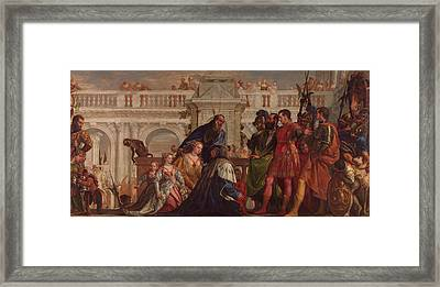The Family Of Darius Before Alexander Framed Print by Paolo Veronese
