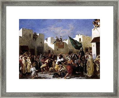 The Fanatics Of Tangier Framed Print by Eugene Delacroix