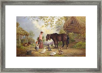 The Farm Framed Print by Henry Charles