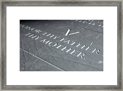 The Fifth Commandment Framed Print by Allan Swart