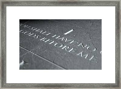 The First Commandment Framed Print