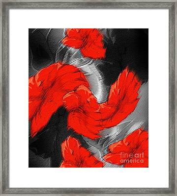 Red Black Gray A Throw Framed Print