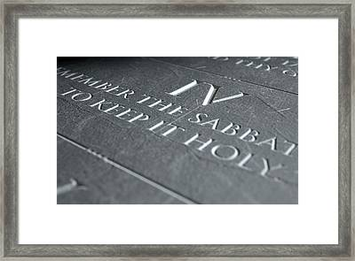 The Fourth Commandment Framed Print by Allan Swart