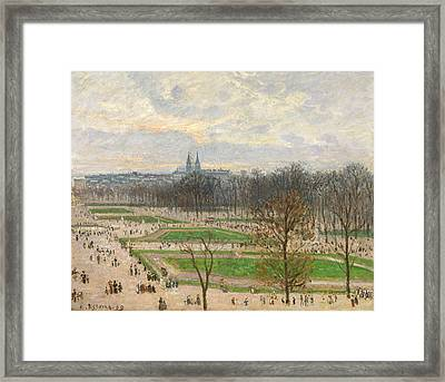 The Garden Of The Tuileries On A Winter Afternoon Framed Print