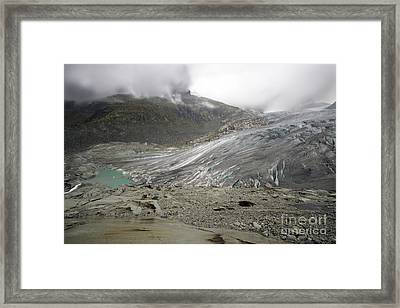 The Glacier Framed Print by Angel  Tarantella