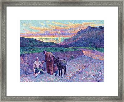 The Good Samaritan Framed Print by Pg Reproductions