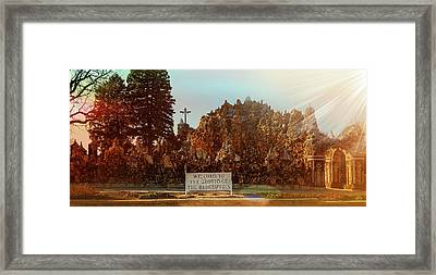 The Grotto Of The Redemption Framed Print