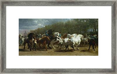 The Horse Fair Framed Print by MotionAge Designs